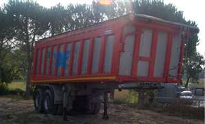 semitrailer used with square body in steel