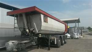 semitrailer used with round steel body