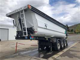semitrailer used with rounded steel body